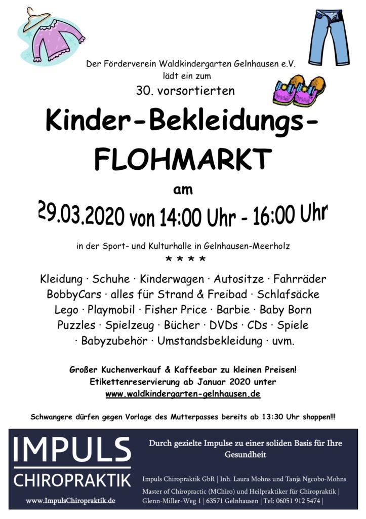 Flyer Flohmarkt: 23.09.2020 von 14:00 bis 16:00 Uhr